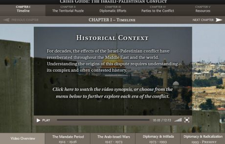 Interactive Crisis Guide to the Israeli-Palestinian Conflict
